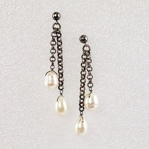 Jewelry - Sterling Silver Earrings Pearl Dangle